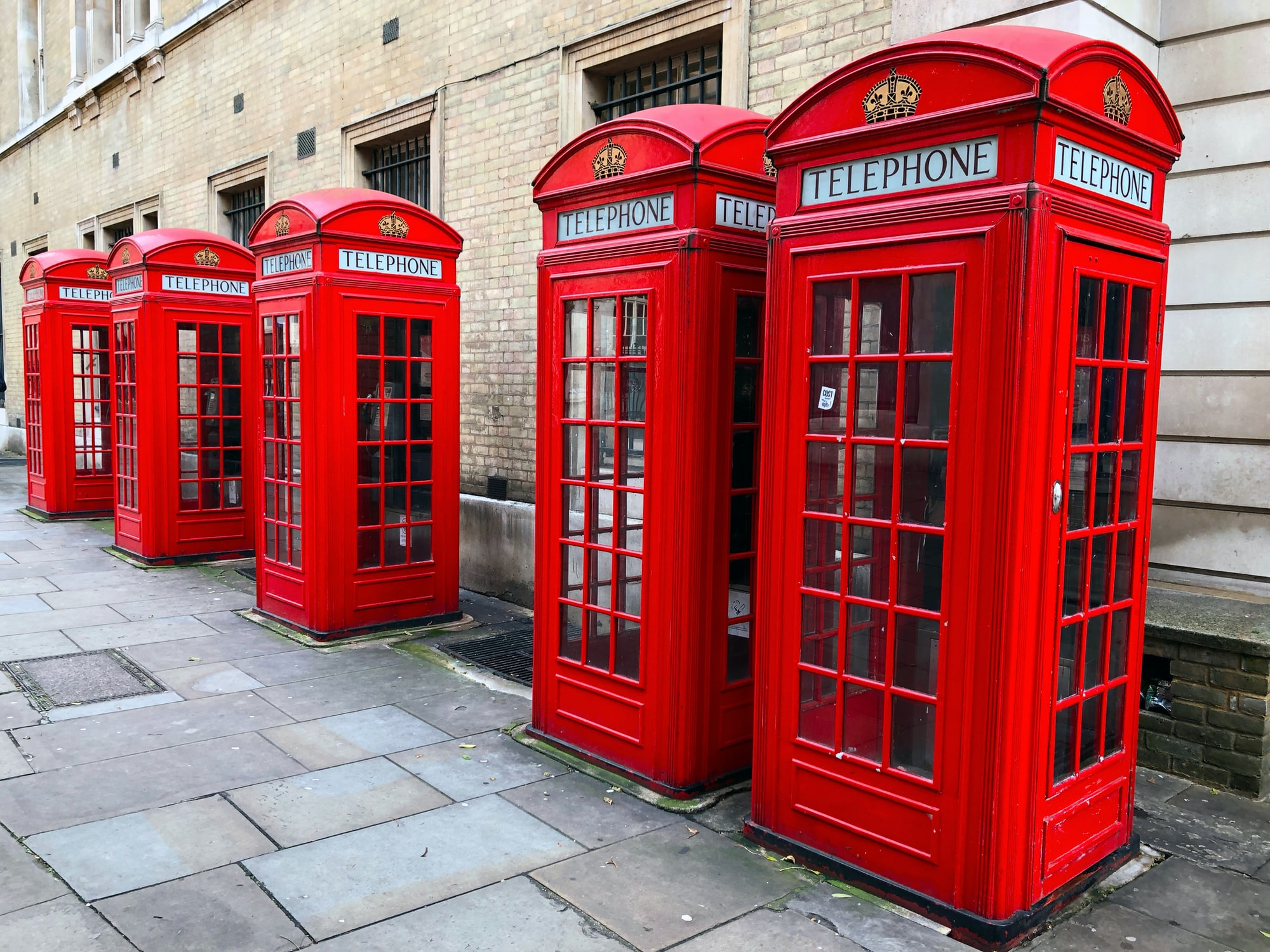 Red British Phone Booths