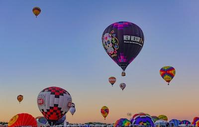 photo of hot air balloons hot air balloon teams background