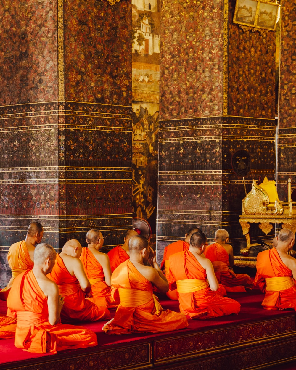 monks in front of altar