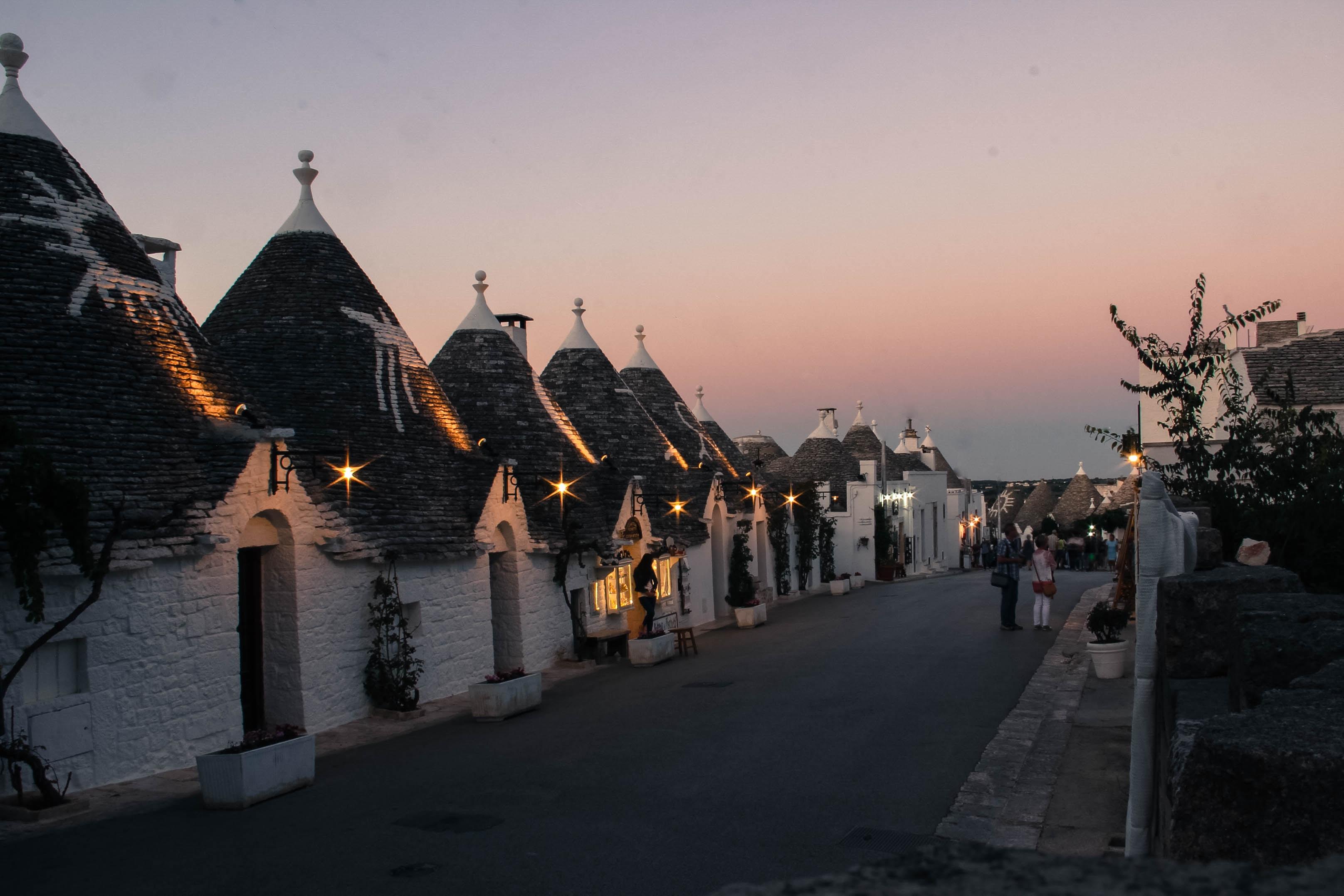 village during dawn