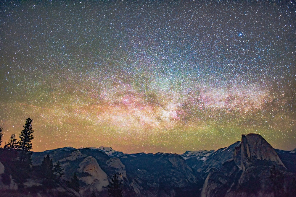 HDR photo of galaxy