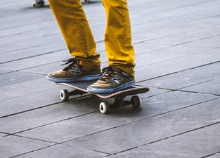 person standing on skateboard