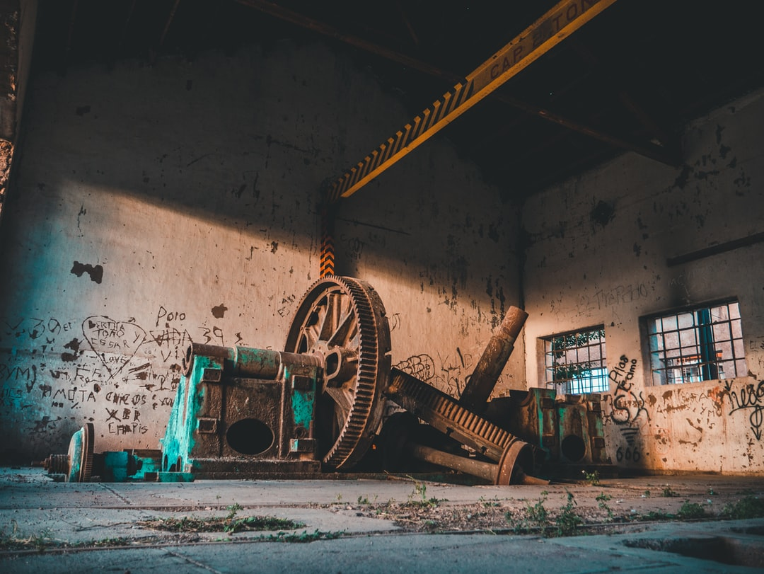 Giant old rusty gears