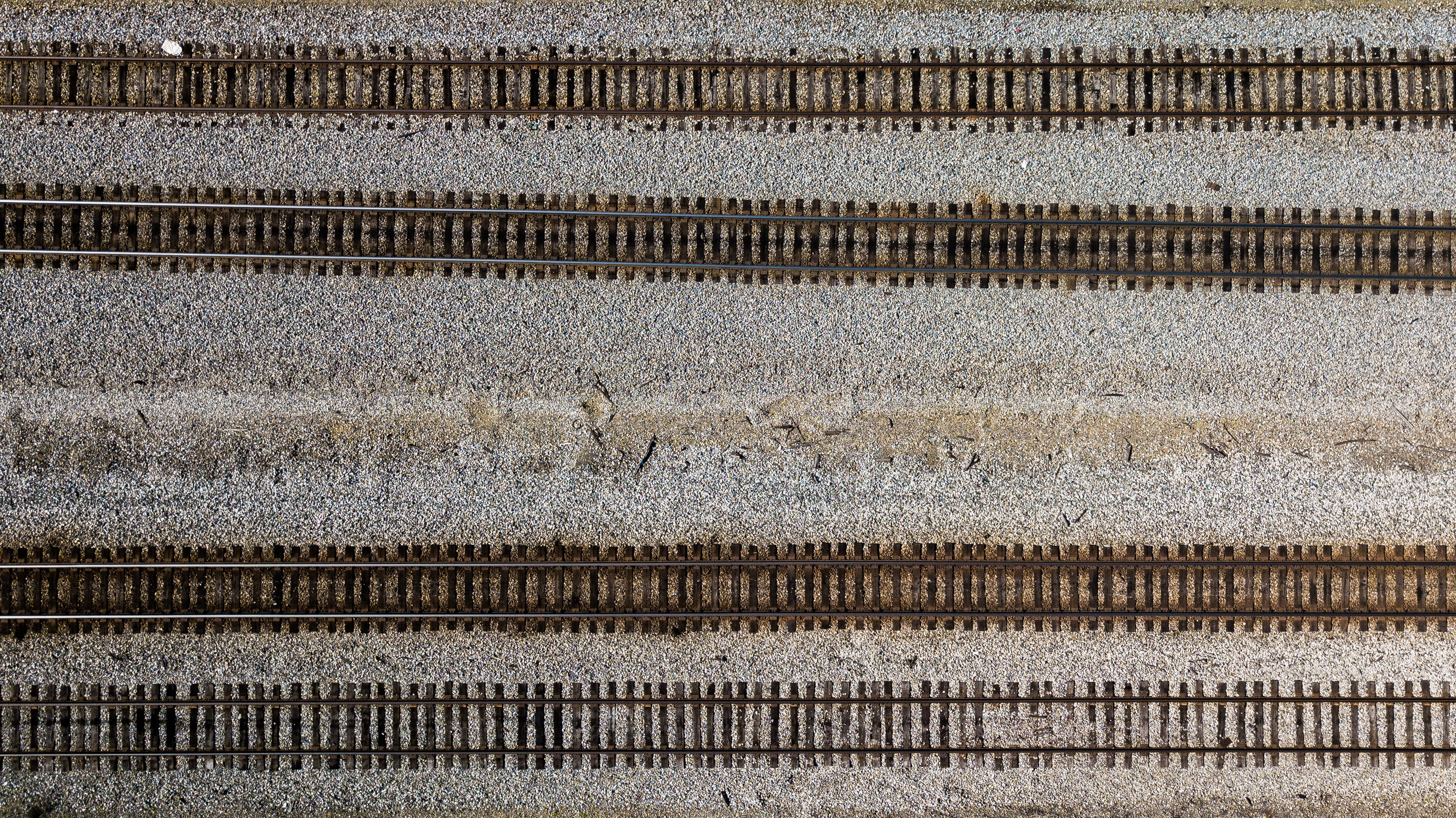 aerial photo of railways
