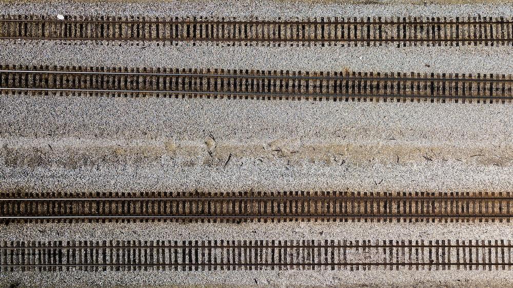 aerial photo of railways