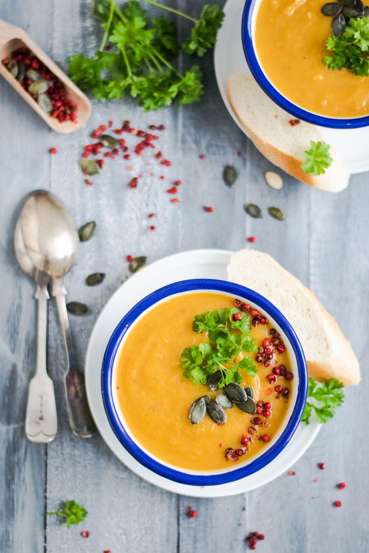 soup on bowl