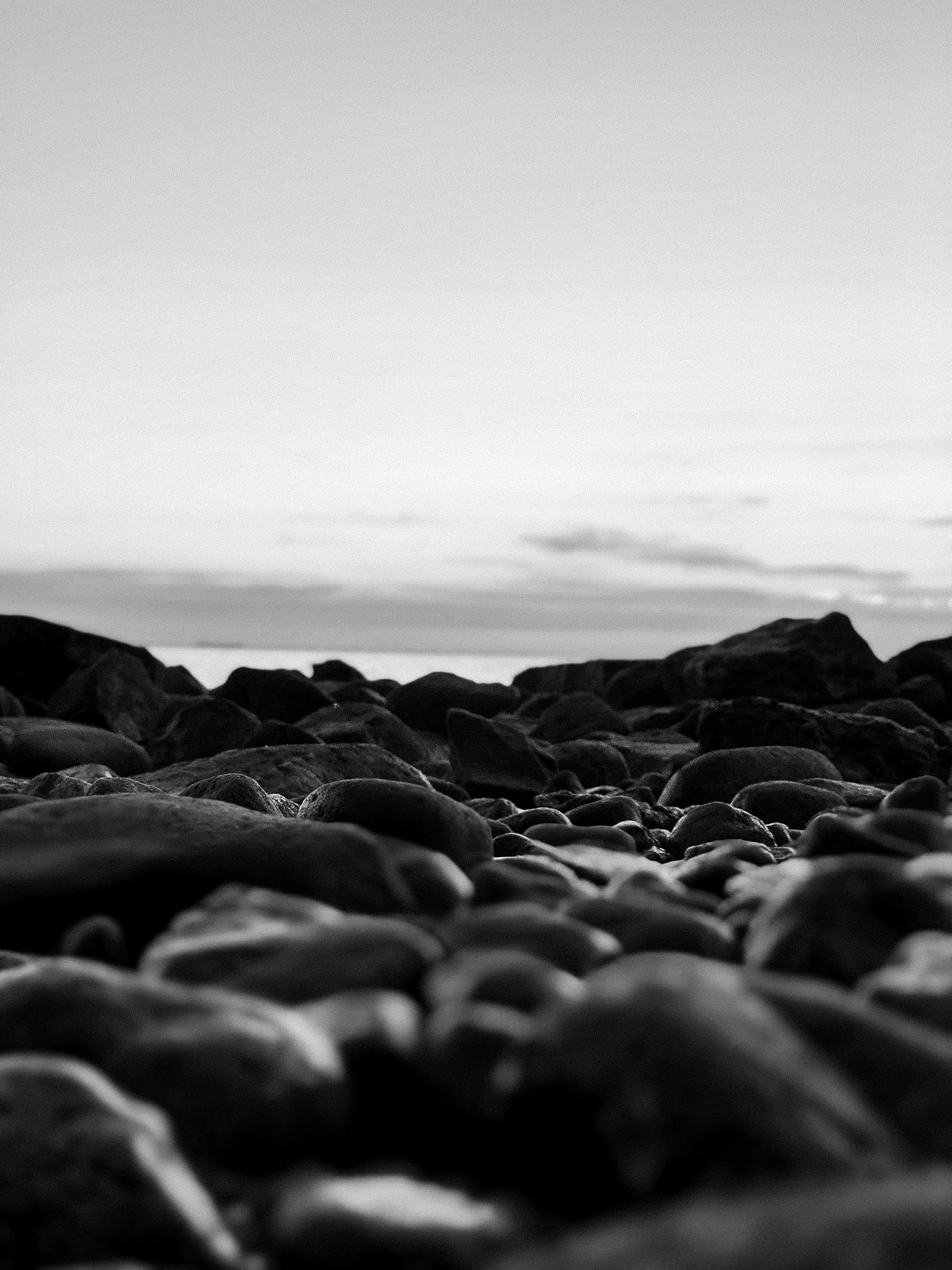 grayscale photography of stones
