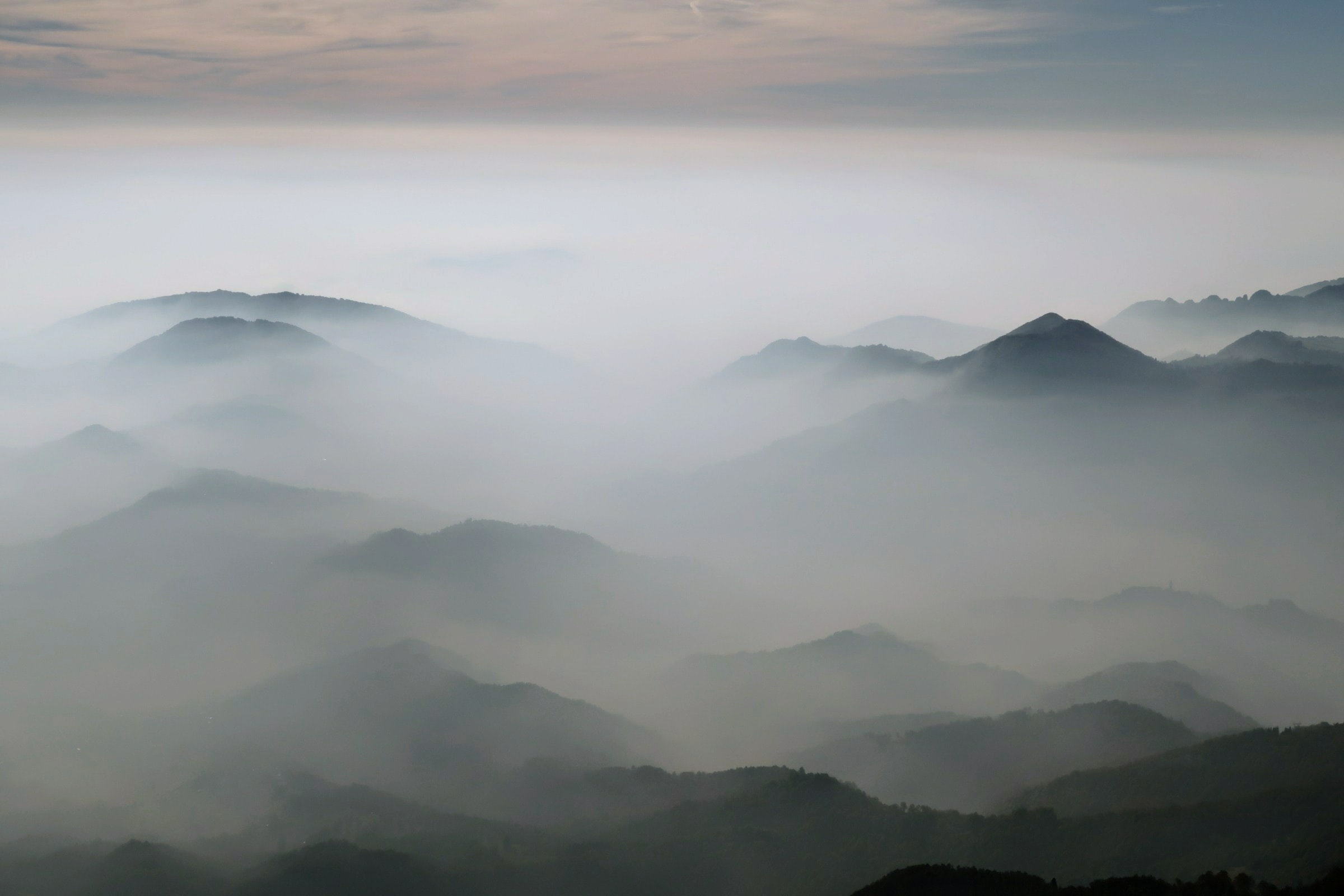 cloud-covered mountain