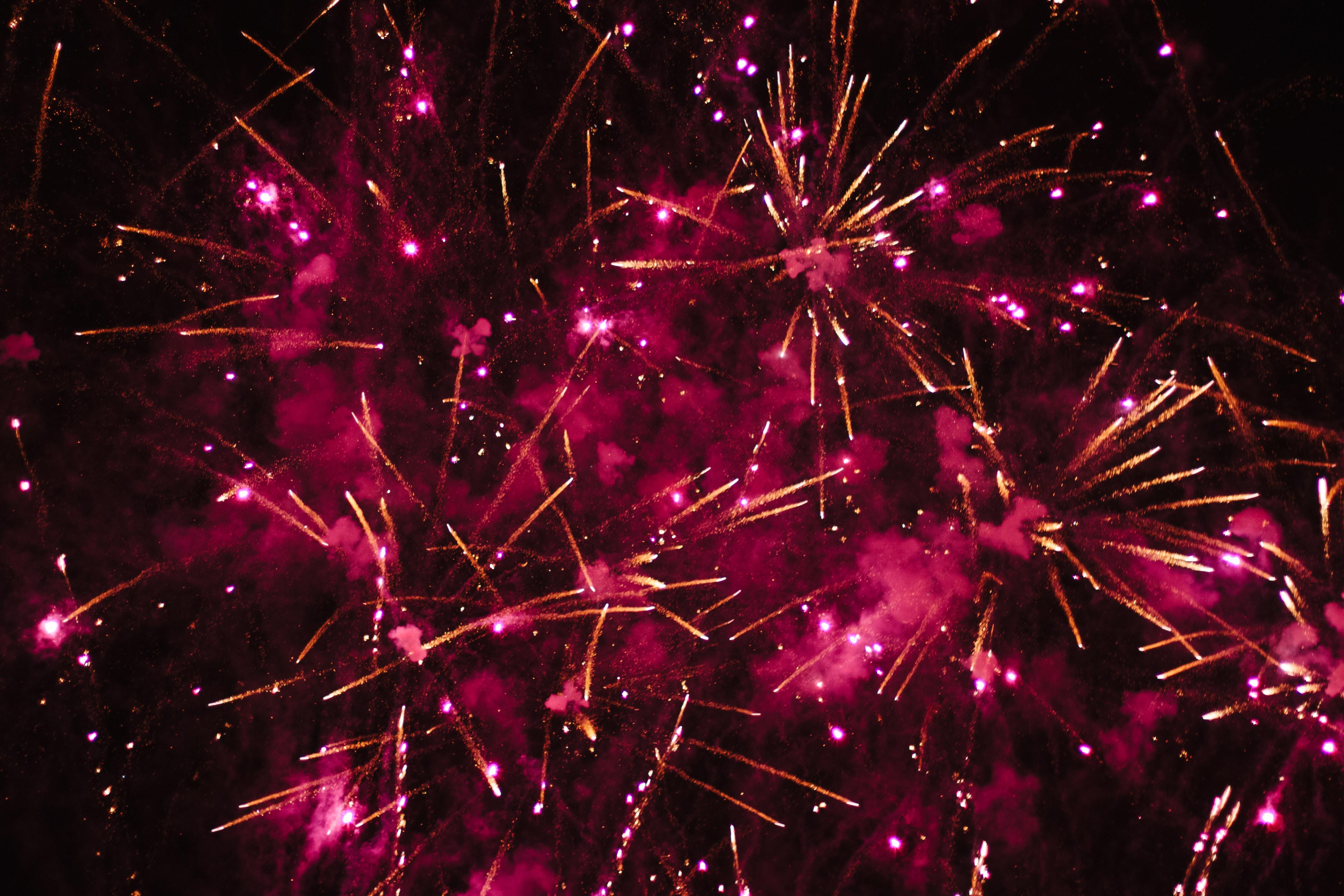firework display at night time