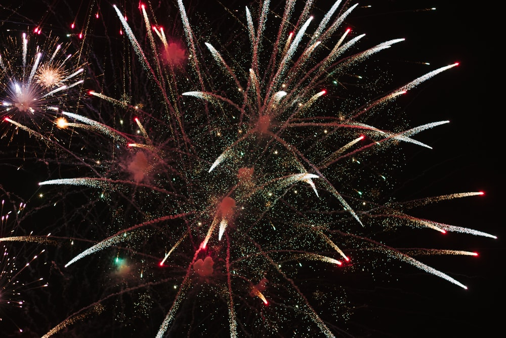 fireworks during nigh time