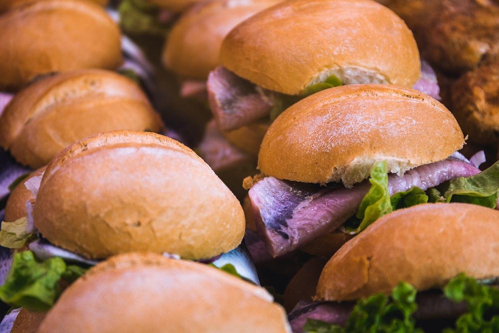 ham and lettuce burgers