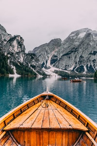 people in brown wooden boat