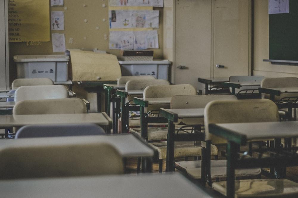 photography of school room