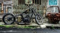black chopper motorcycle