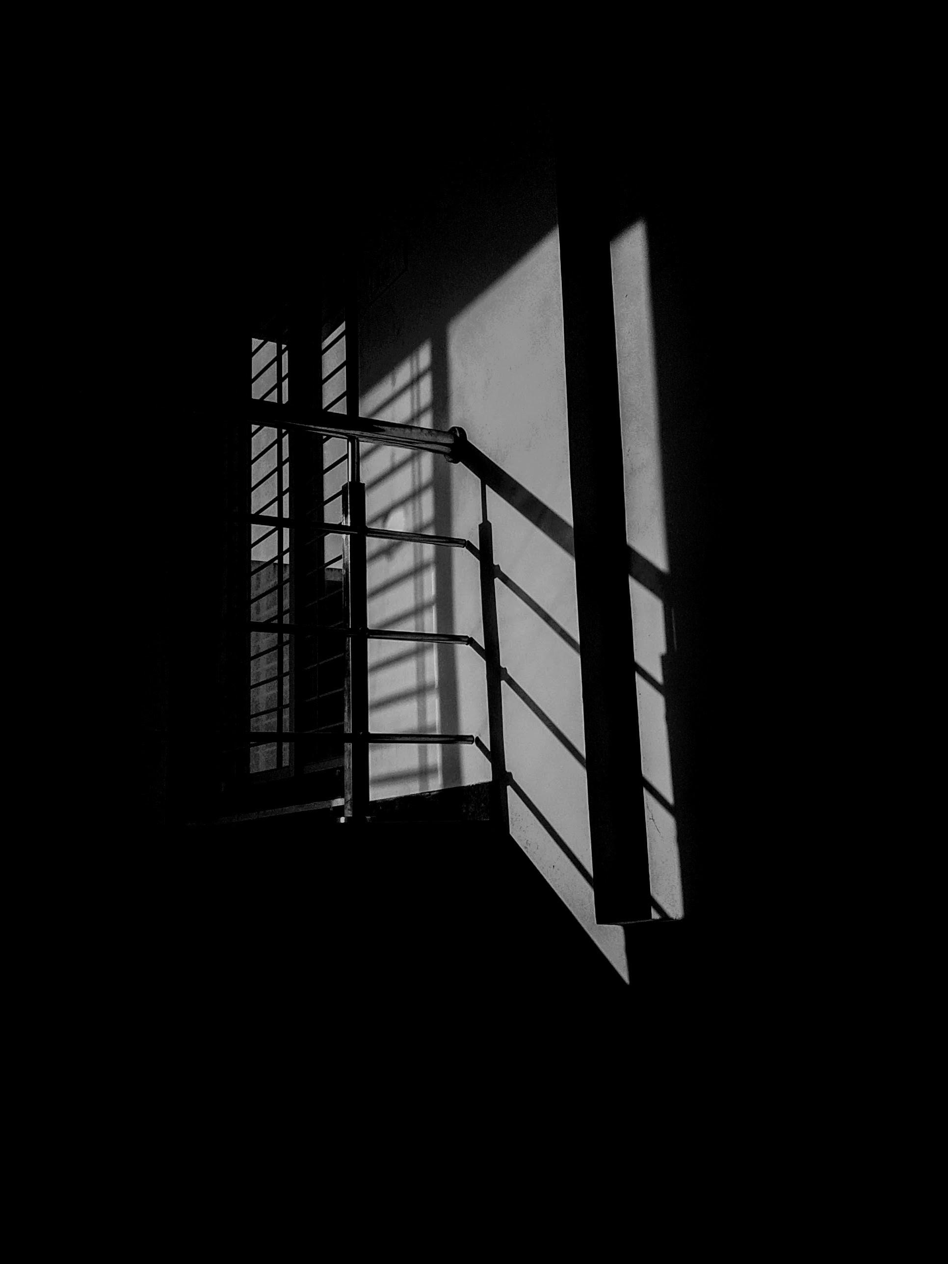 grey metal stair