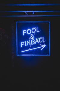 Pool & Pinball neon light signage