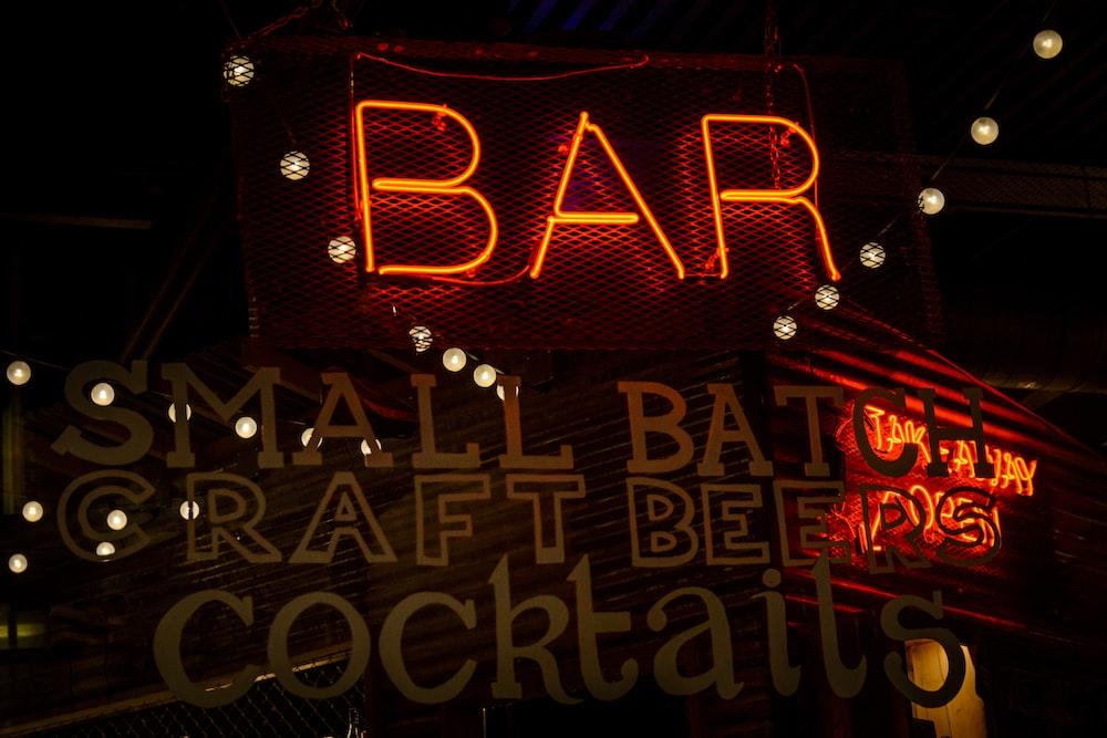 bar neon signage