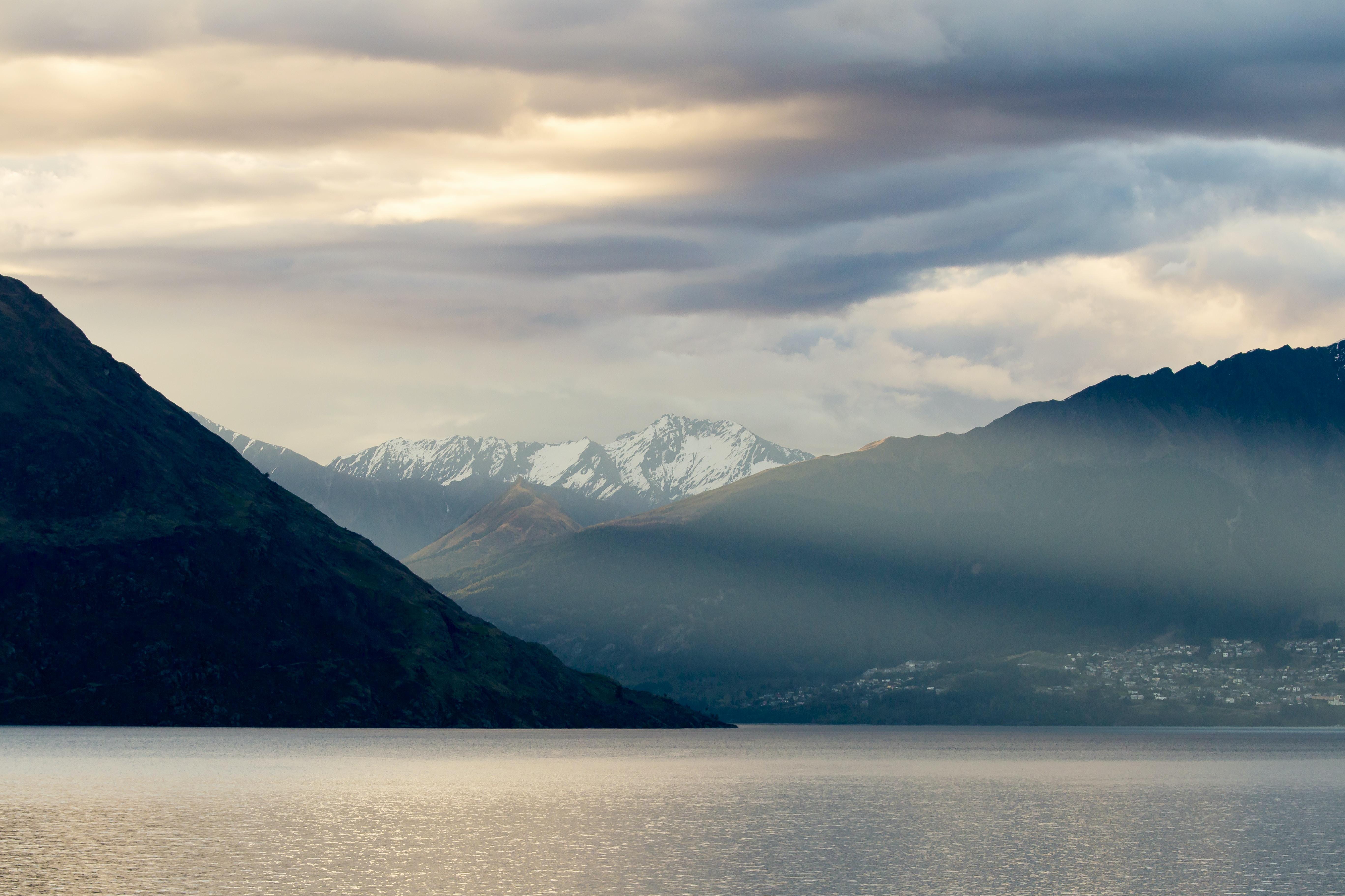 mountains and sea horizon scenery