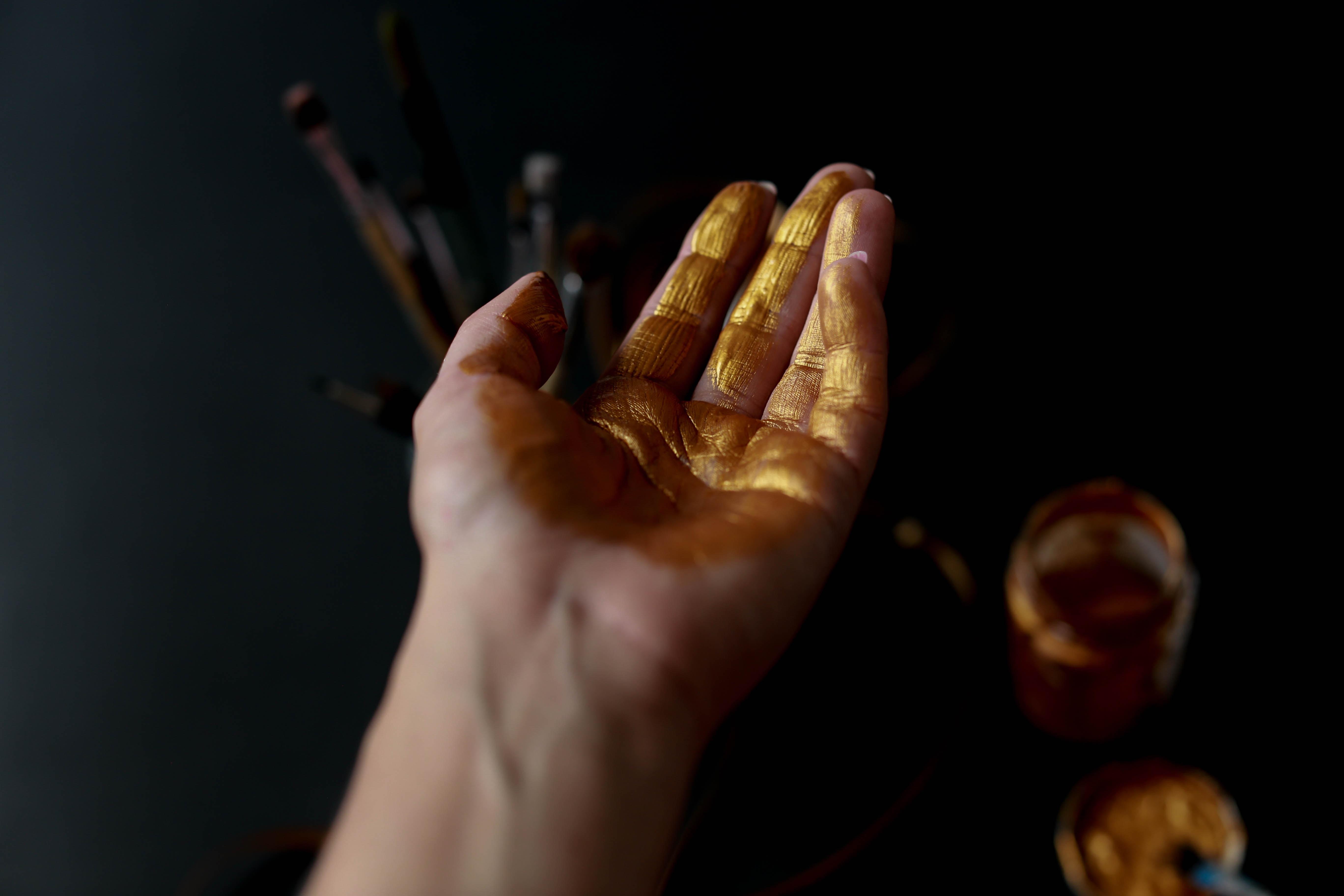 person's left palm