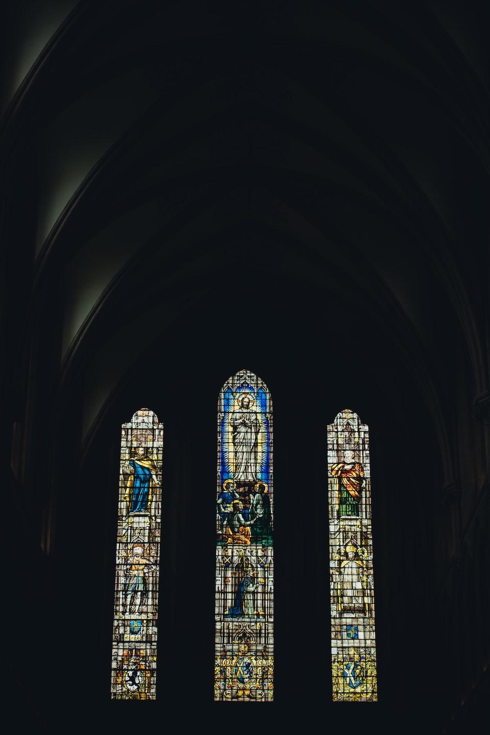 architectural interior design of church glass steins