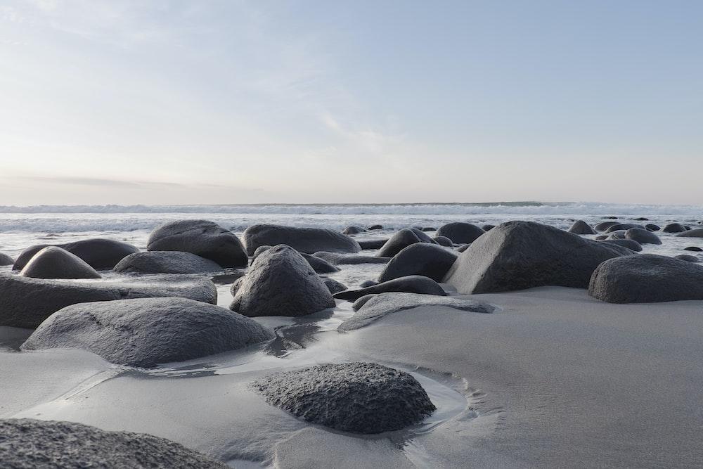 photo of rocks near shoreline
