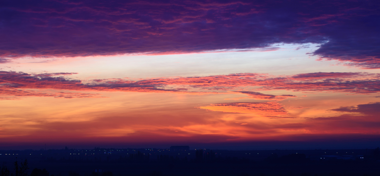 orange cloudy sky