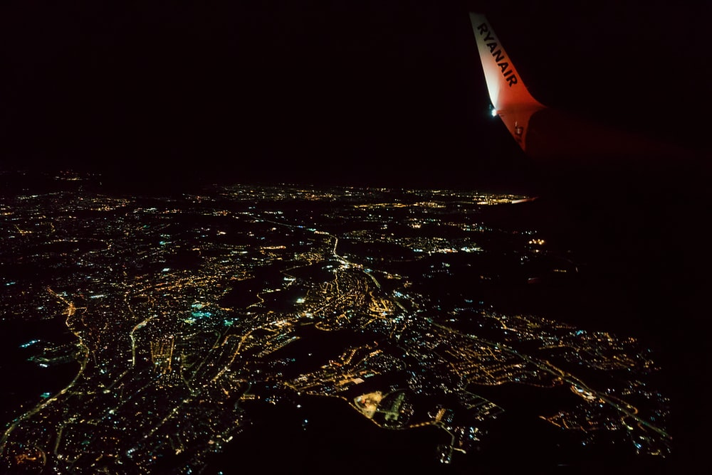 aerial photography of city escape during nighttime