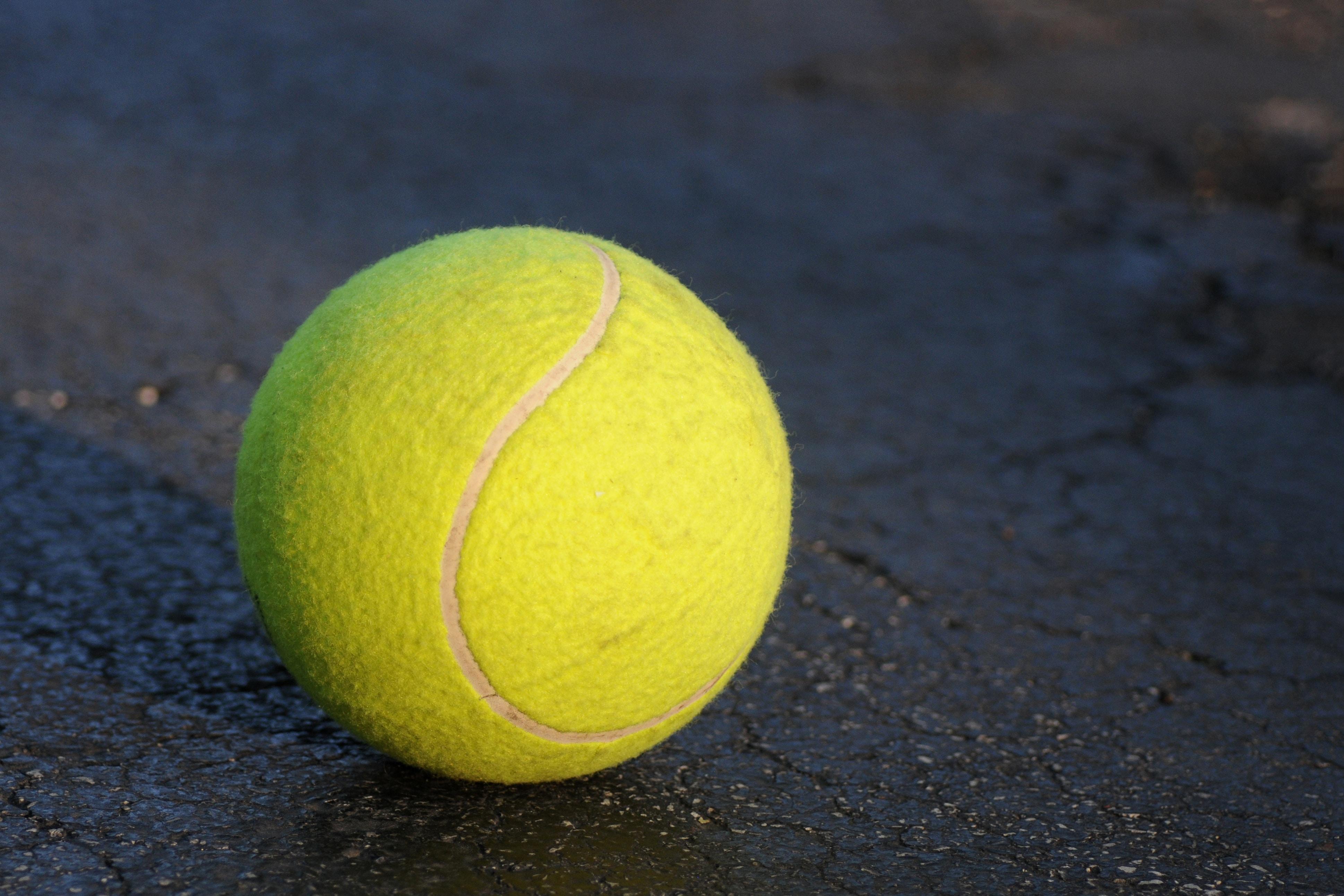 shallow focus photography of tennis ball