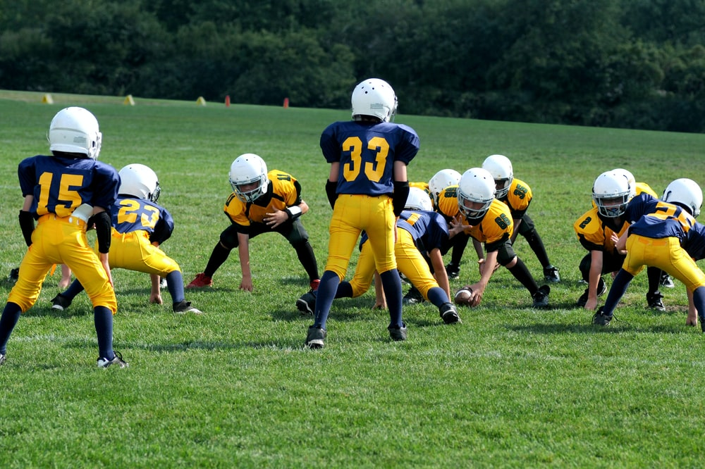 two teams playing football