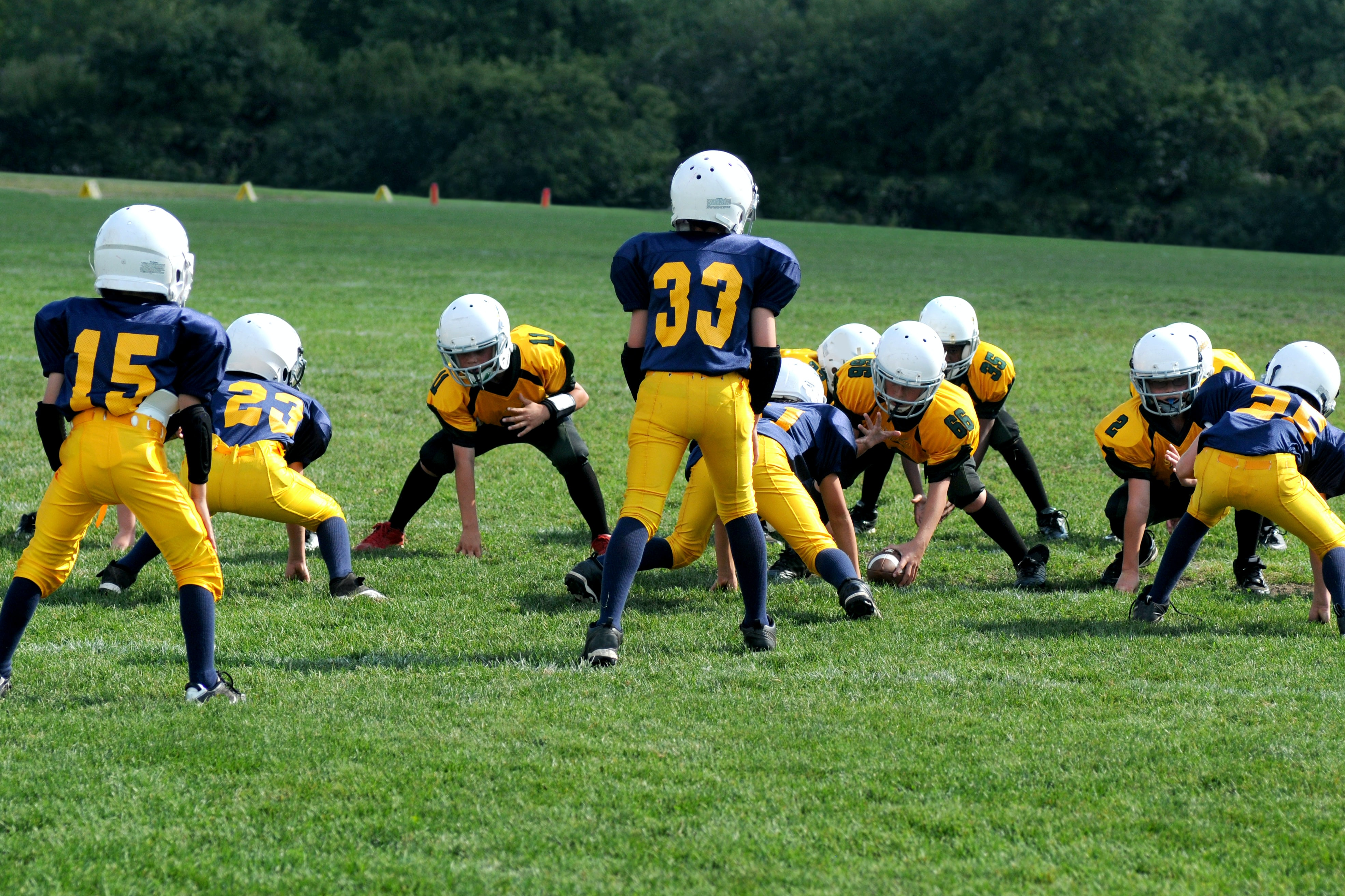 two teams playing football