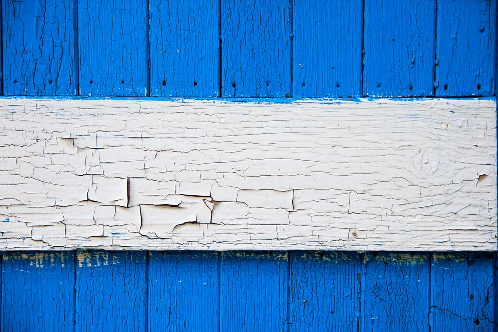 blue and white wooden board