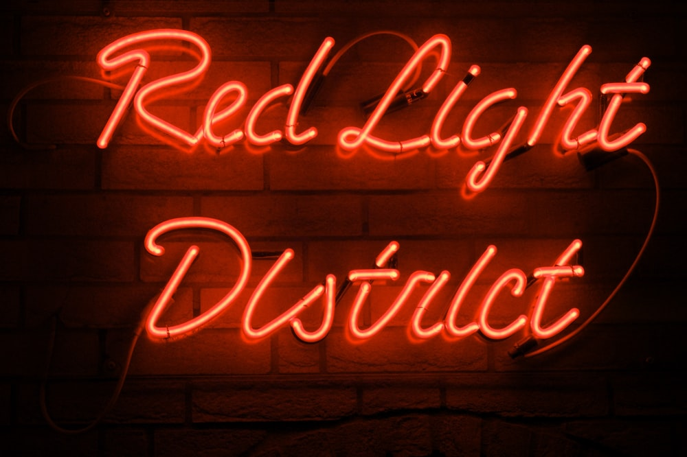 red Red Light District neon light decoration