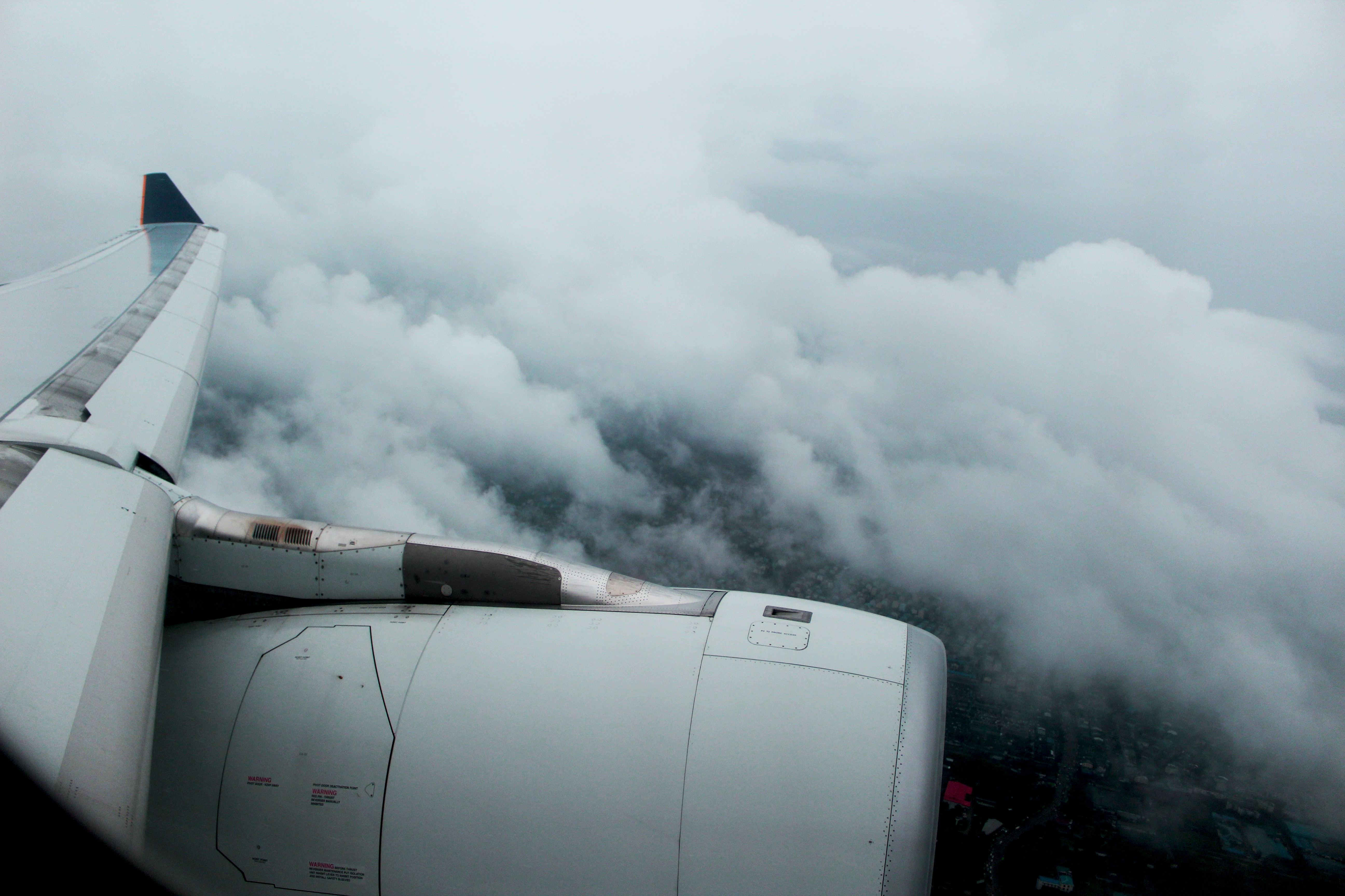 macro shot photography of sea of clouds