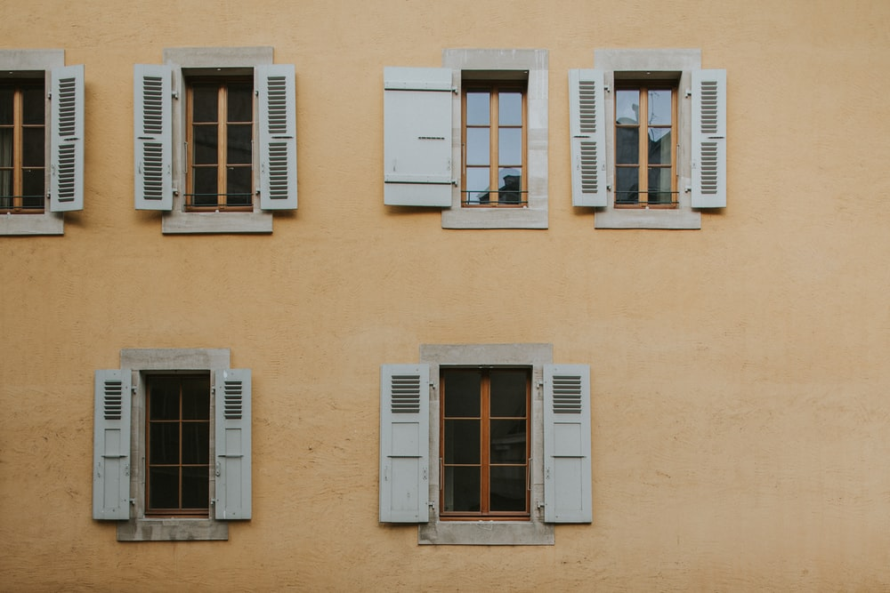 opened white windowpanes