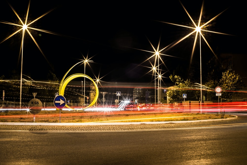 time lapse photography of road during nighttime