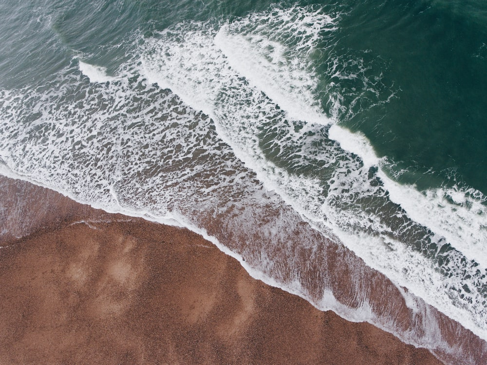 top view of seashore