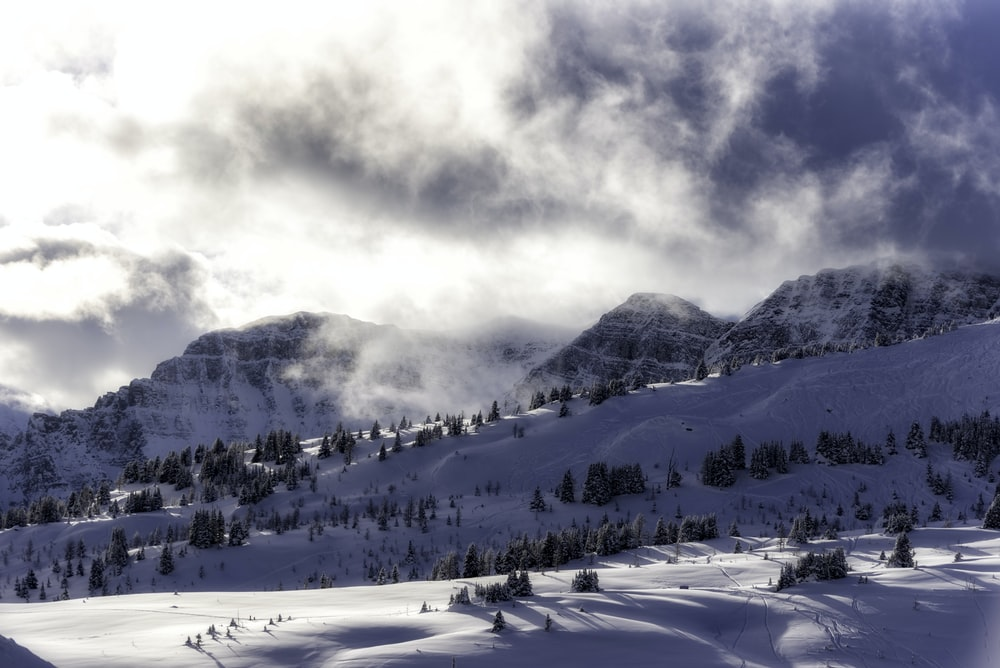 scenery of snow covered mountain