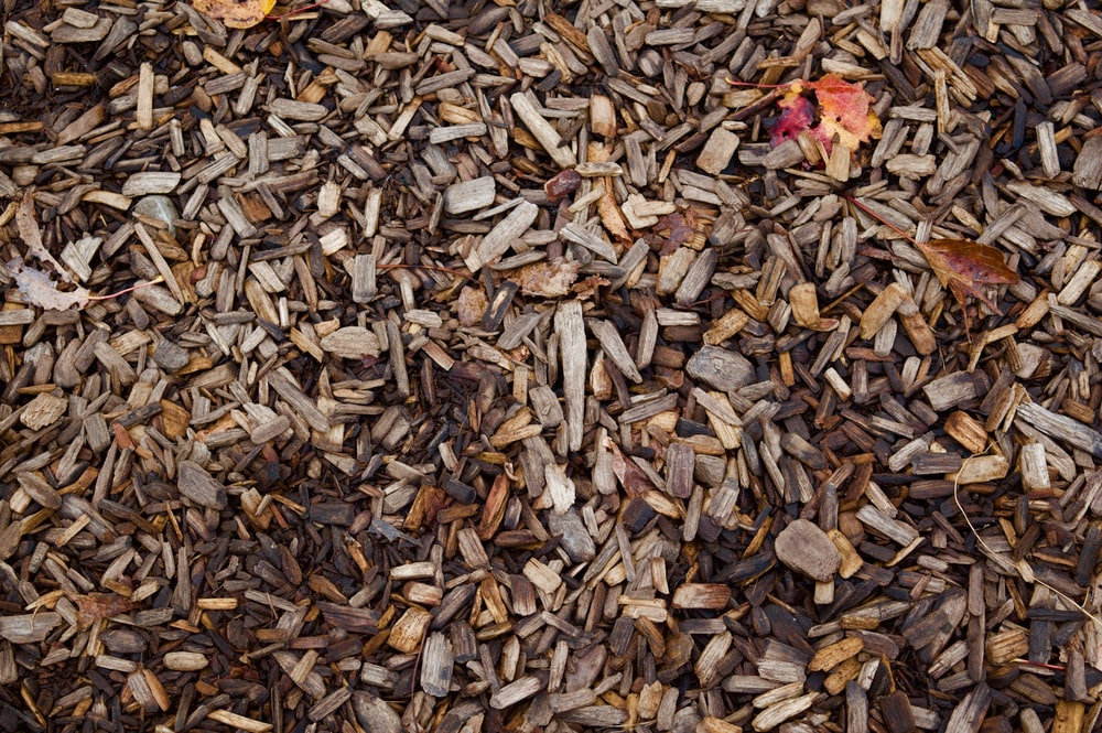 brown wood chip lot