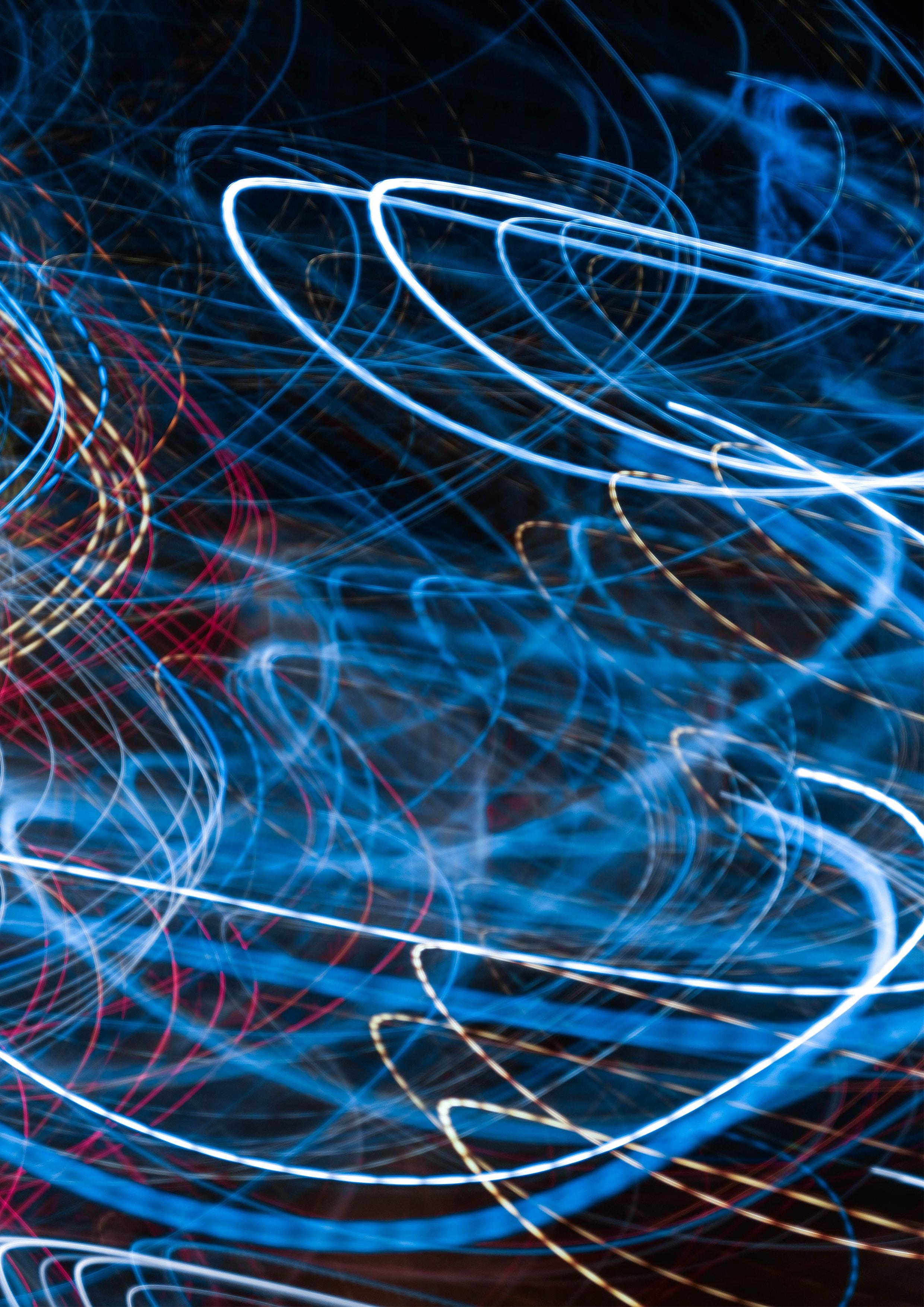 blue LED lights