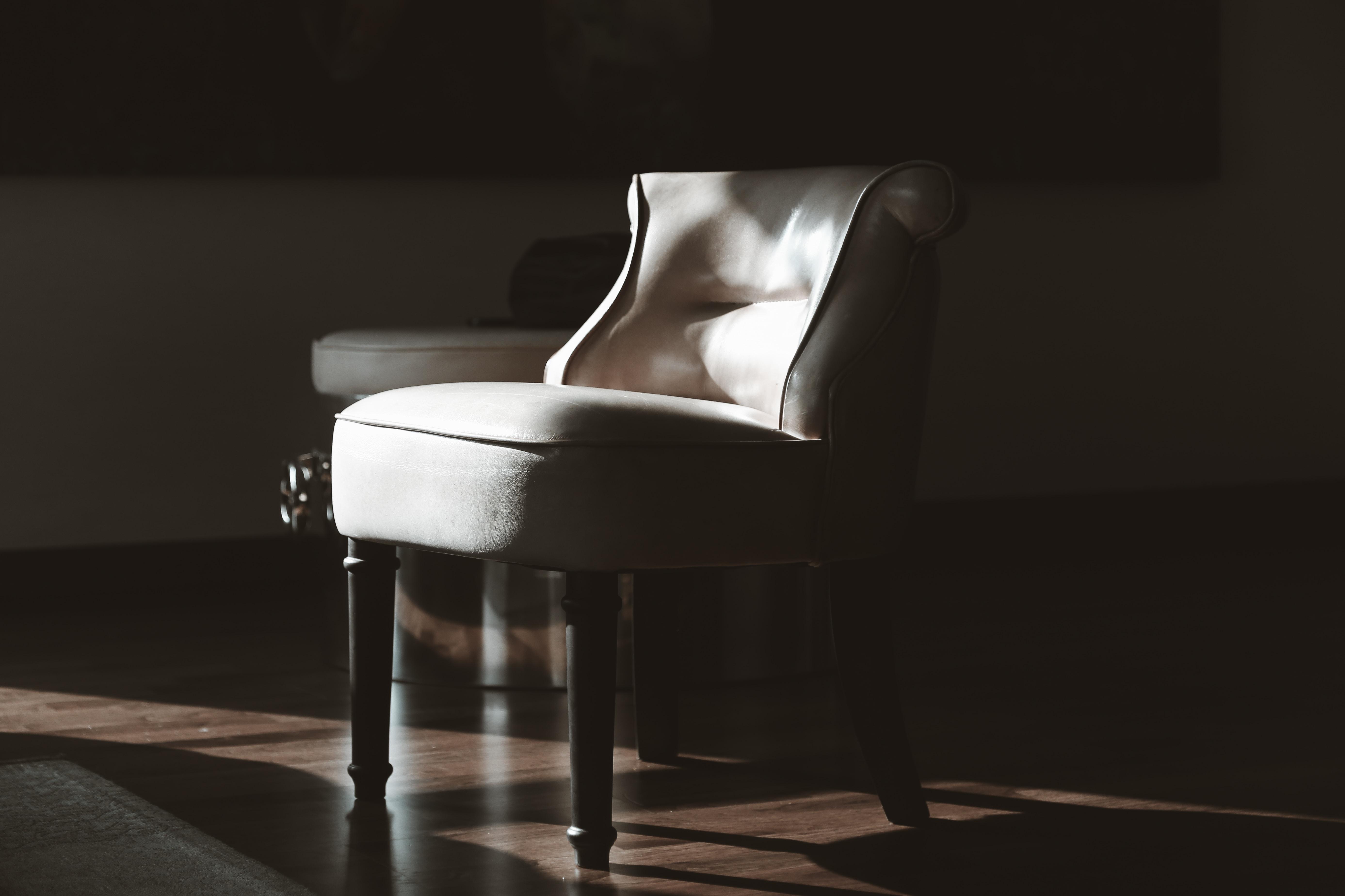 white pub chair