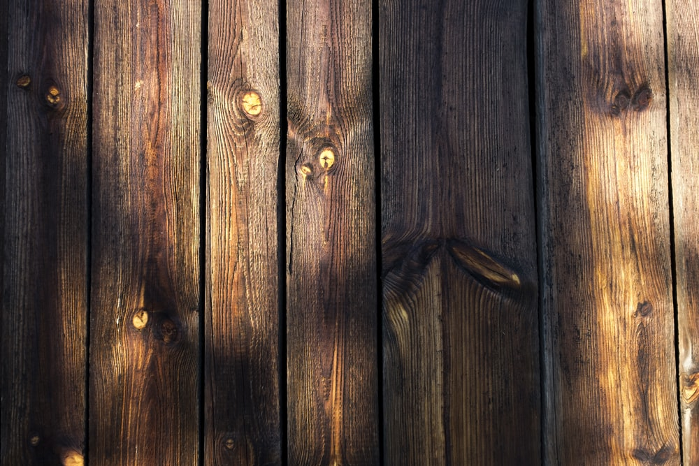 close shot of brown wooden boards