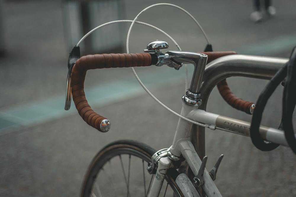 gray and brown road bike