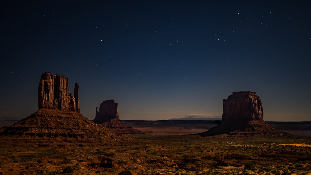 stone formation on desert