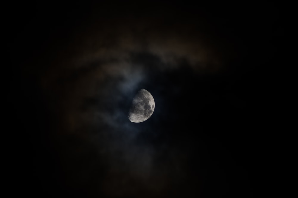 moon at night sky