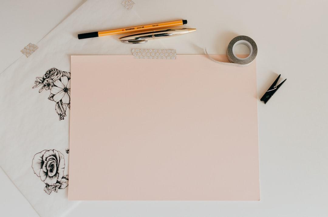 Feminine Paper Flat Lay