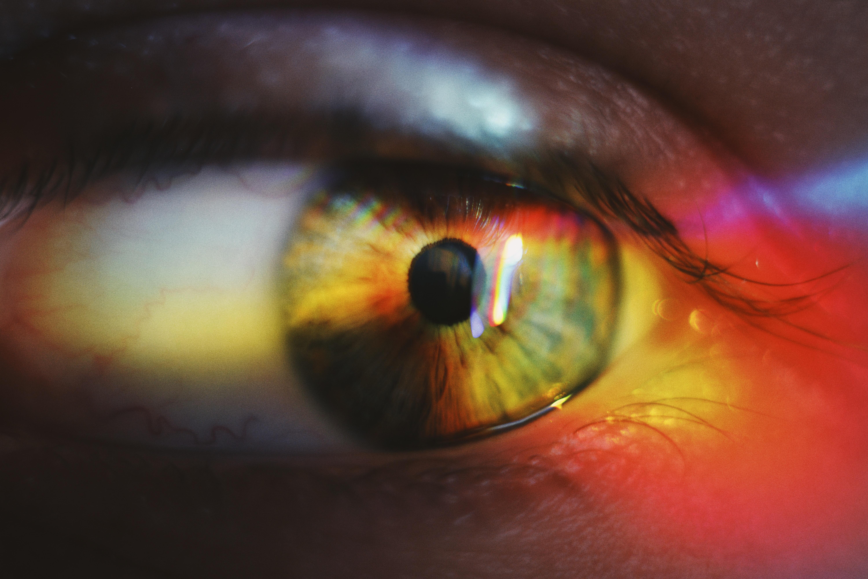 close up shot of human's eye