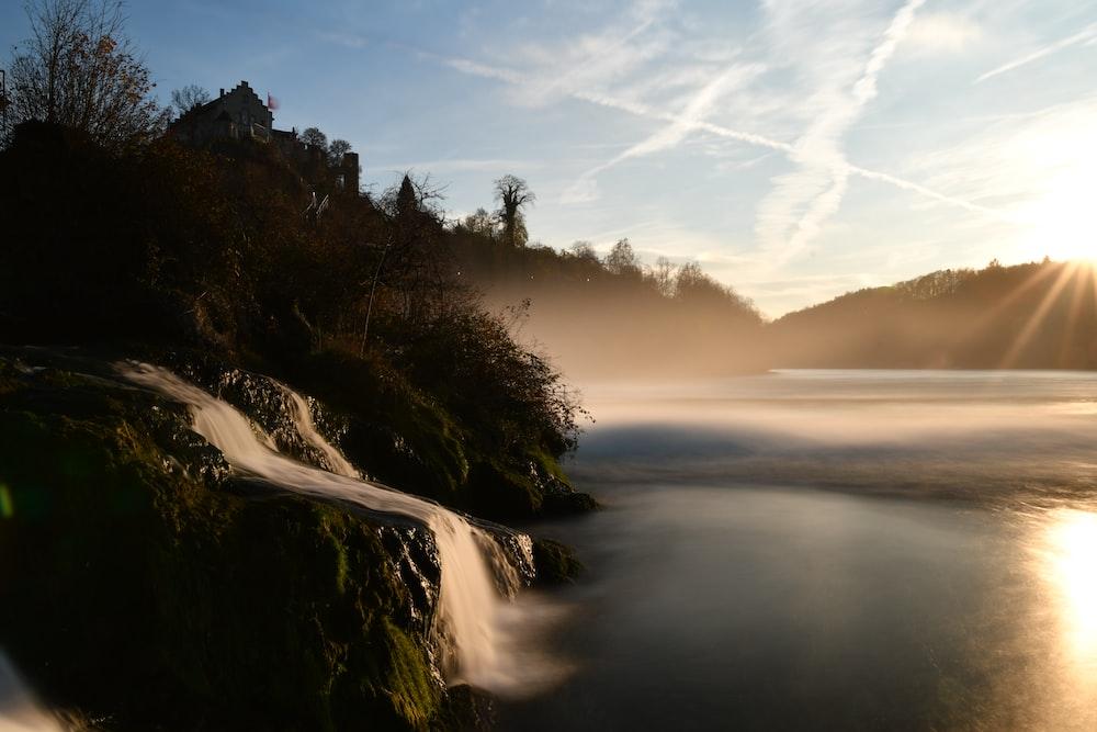 landscape shot of body of water