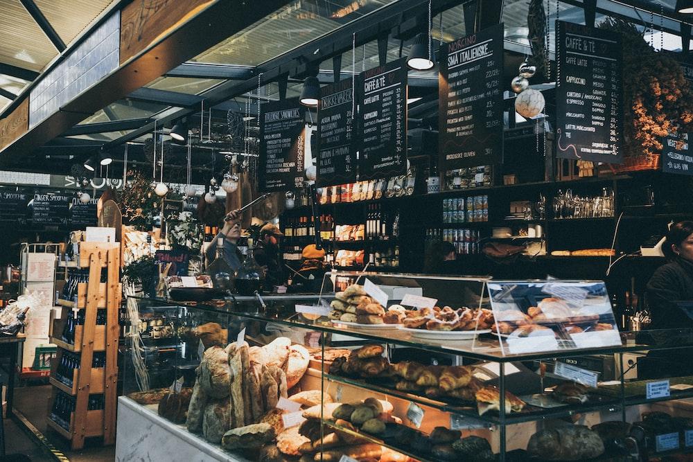 person inside bakery shop