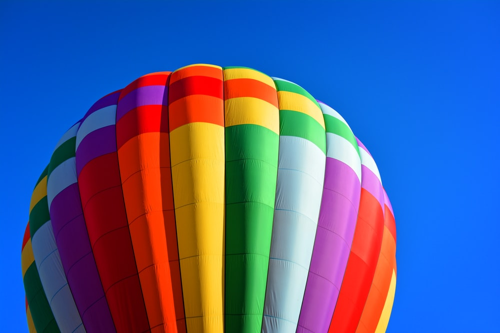 time lapse photography of hot air balloon