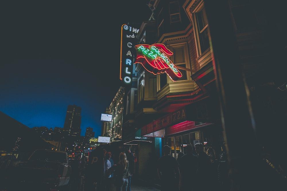 Calro neon signage under black sky